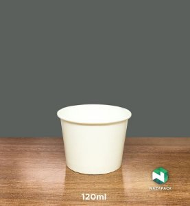 Pote Polipapel 120ml  -Kraft ou Branco - Lançamento