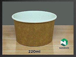 PotePolipapel 220ml  -Kraft ou Branco - Lançamento
