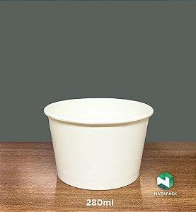 PotePolipapel 280ml  -Kraft ou Branco - Lançamento