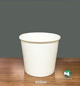 PotePolipapel 300ml  -Kraft ou Branco - Lançamento