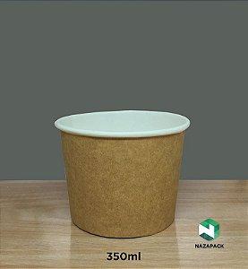PotePolipapel 350ml  -Kraft ou Branco - Lançamento