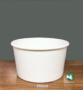 PotePolipapel 550ml  -Kraft ou Branco - Lançamento