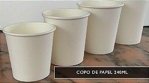 Copo de papel 240ml - parede simples NCPP- PROMOÇÃO