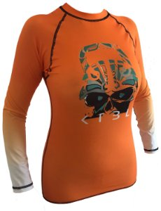RASHGUARD SKULL ORANGE
