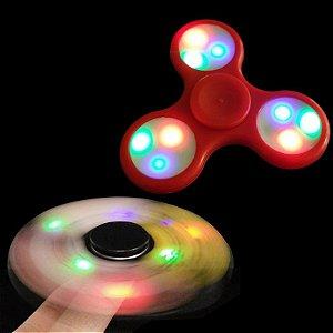 Fidget Hand Spinner Finger Toy Anti Stress Ansiedade C/ Led