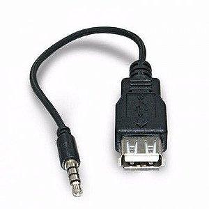 Cabo Adaptador Plug P2 X Usb Femea Som Carro Celular Mp3/mp4