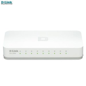 Switch 8 portas D-link Fast-Ethernet 10/100Mbps Desktop DES-1008A