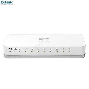 Switch 8 portas D-link Fast-Ethernet 10/100Mbps Desktop DES-1008C  (NOVO)