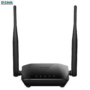 Roteador D-link Wireless N 300Mbps +duas antenas 5dBi + 2 LAN DIR-611