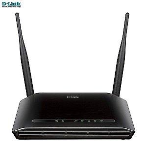 Roteador D-link Wireless N 300Mbps +duas antenas 5dBi + 4 LAN DIR-615