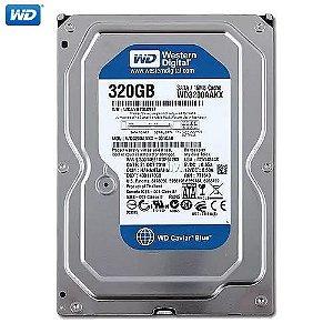 HD Western Digital Caviar Blue Desktop 320GB II SATA 3,5´ 7200RPM Cachê 8MB 3.0Gb/s - WD3200AAJS