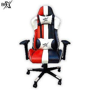 Cadeira Gamer BR-X RED/WHY/BLACK com Encosto Reclinável - D-363