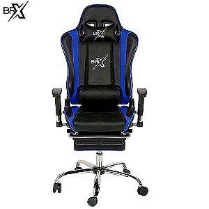 Cadeira Gamer BR-X BLUE com Encosto Reclinável - D-364