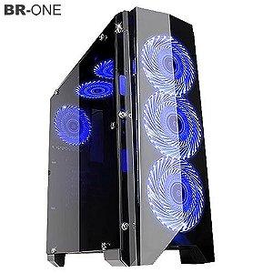 Gabinete Gamer BR-ONE B13B Sem Fonte 1 porta USB 3.0 - Tool Less