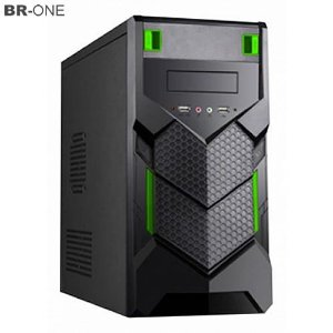 Gabinete Gamer BR-ONE P15 Verde 2 portas USB Frontal