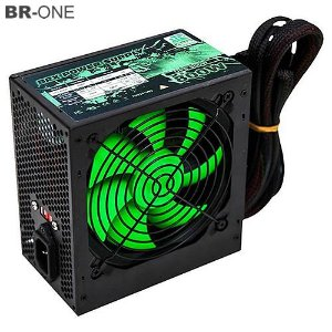 Fonte de Alimentação ATX BR One 24P Fan 12cm 800W Real UPS800 c/cabo - Box
