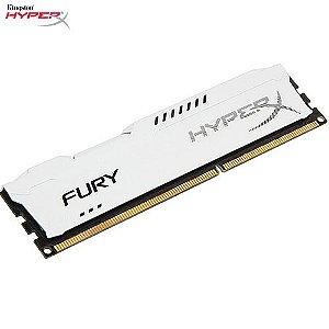 Memória 4GB PC DDR3 Kingston HyperX FURY 1600Mhz CL10 White - HX316C10FW/4