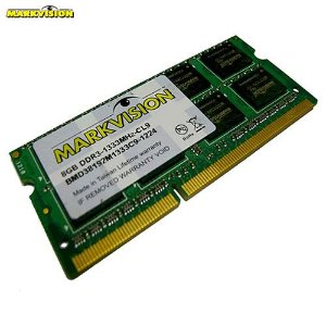 Memória 4GB Notebook DDR3 Markvision 1333Mhz PC3-10600 CL9 204-Pin SODIMM - MM4GB1333MKV