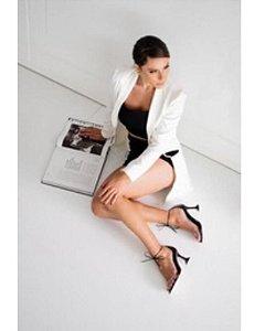 Sandália com Tira Transparente