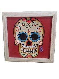 Quadro Decorativo Caveira Mexicana