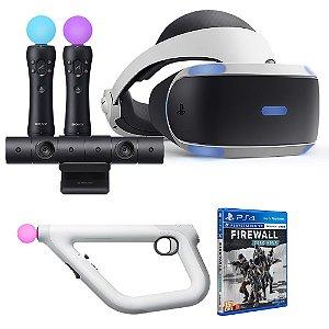 PlayStation VR VR1 + Arma PS VR Aim Controller + Camera + Move - Seminovo - PS4