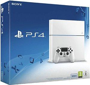 Console PlayStation 4 - 500 Gb Branco- Seminovo - Sony