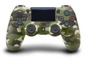 Controle Sony Dualshock 4 Camuflado Verde - Sem Fio - PS4