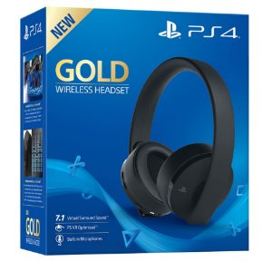 Headset Sony Gold Stereo Sem Fio - PS3, PS4, PS Vita, PS Vr - Sony