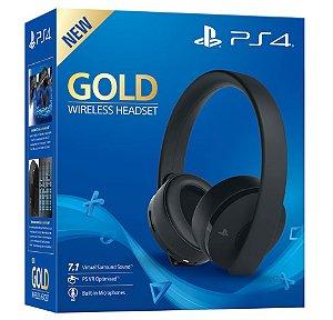 Headset Sony Gold Stereo Sem Fio - PS3, PS4, PS Vita, PS Vr (Seminovo) - Sony