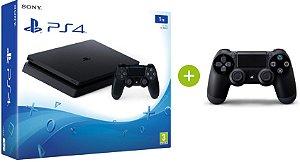 Console PlayStation 4 Slim 1 Tera 1 tb Com 2 Controle DualShock - Sony