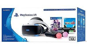 PlayStation VR Bundle Blood & Truth + Everybody Golf VR - Modelo Novo Completo - CUH-ZVR2 - PS4 - Sony