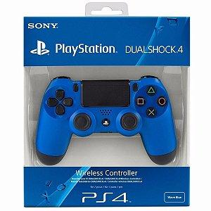 Controle Sony Dualshock 4 Azul - Sem Fio - PS4