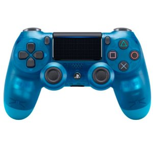 Controle Sony Dualshock 4 Crystal Blue Azul Transparente - Sem Fio - PS4