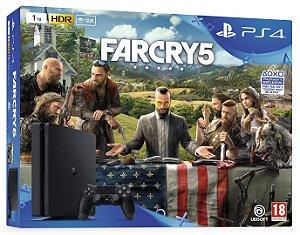 Console Playstation 4 Slim 1 Tera com o Jogo Farcry 5 (Em Português - Mídia Física) - Sony