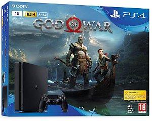Console Playstation 4 Slim 1 Tera com o God Ofa War (Em Português - Mídia Física) - Sony
