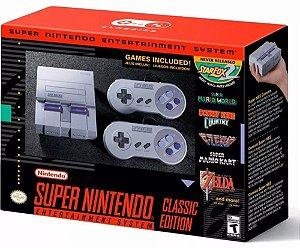 Console Super Nintendo Classic Edition Com 2 Controles + 21 Jogos - Nintendo