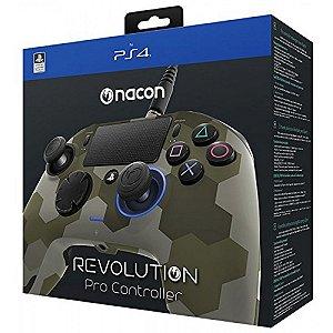 Controle Revolution Pro Nacon para Playstation 4 - Camuflado Verde