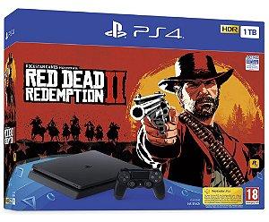 Console Playstation 4 Slim 1tb 1 Tera com o Jogo Red Dead Redemption 2 (Mídia Física) - Sony