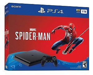 Console Playstation 4 Slim 1tb 1 Tera com o Jogo Spider Man (Mídia Física) - Sony