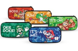 Case Console Switch Slim Travel Mario Luigi Bowser Donkey Kong Yoshi - Switch