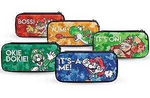 Case Console Switch Slim Travel Mario Luigi Bowser Donkey Kong Yoshi - Switch