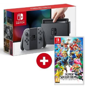 Console Nintendo Switch + Jogo Super Smash Bros Ultimate - Switch