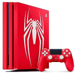 Console Playstation 4 Pro 1 Tera Edição Marvel Spider Man (Sem o Jogo) - PS4