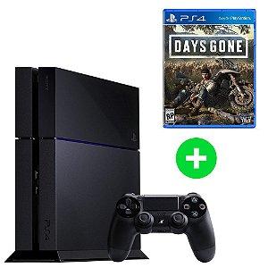 Console Playstation 4 Seminovo + Days Gone (Lançamento) - Sony