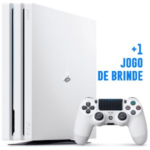 Console PlayStation 4 Pro 4k Seminovo - Branco White - 1 Tb - Sony