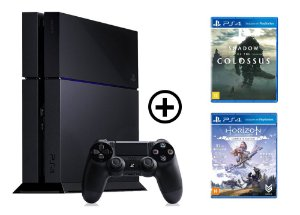 Console Playstation 4 Seminovo + Shadow of the Colossus + Horizon Zero Dawn - OFERTA ESPECIAL - Sony