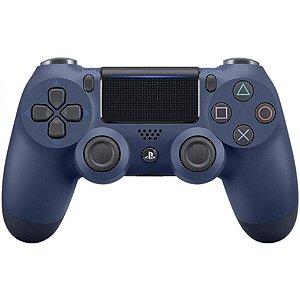Controle Sony Dualshock 4 Azul Escuro Midnight - Sem Fio - PS4