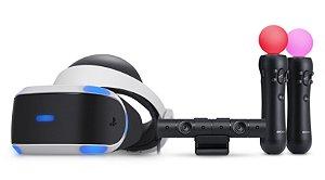 PlayStation VR CUH-ZVR1 + Camera + Controles MOVE (Seminovo) - PS4 - Sony