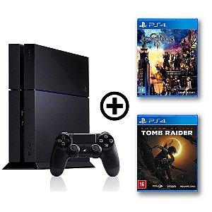 Console Playstation 4 Seminovo + Kingdom Heart 3 + Shadow of the Tomb Raider - OFERTA ESPECIAL - Sony