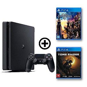 Console Playstation 4 Slim 500gb + Kingdom Heart 3 + Shadow of the Tomb Raider - OFERTA ESPECIAL - Sony
